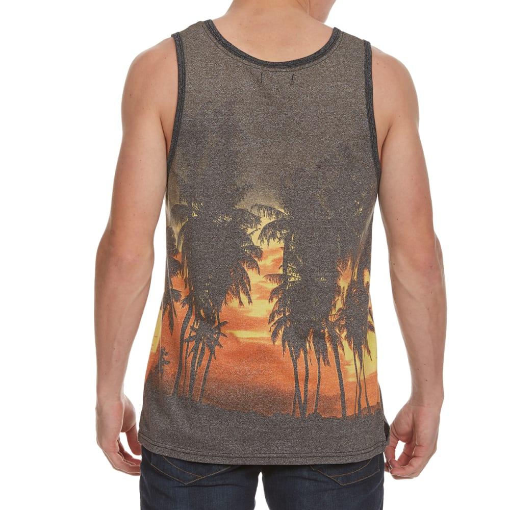 OCEAN CURRENT Guys' Gadget Palm Trees Tank Top - BLACK