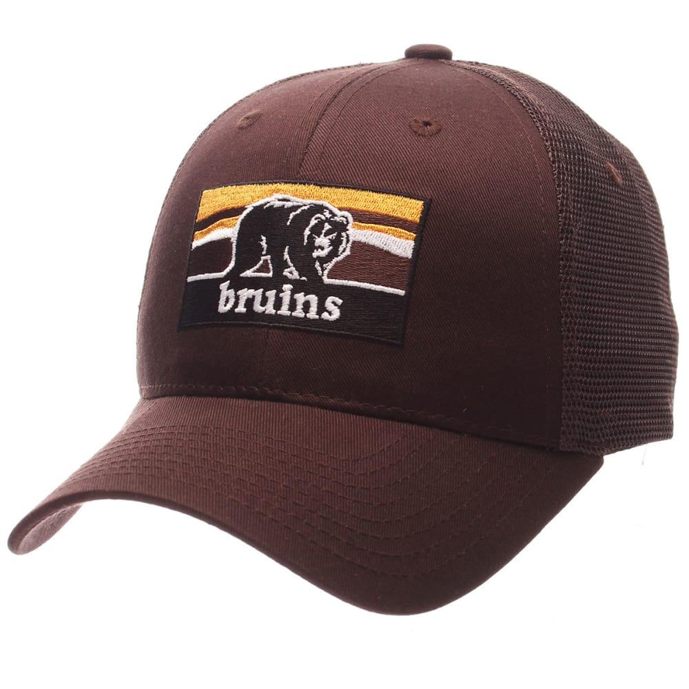 BOSTON BRUINS Men's Landmark Mesh Adjustable Hat - BROWN