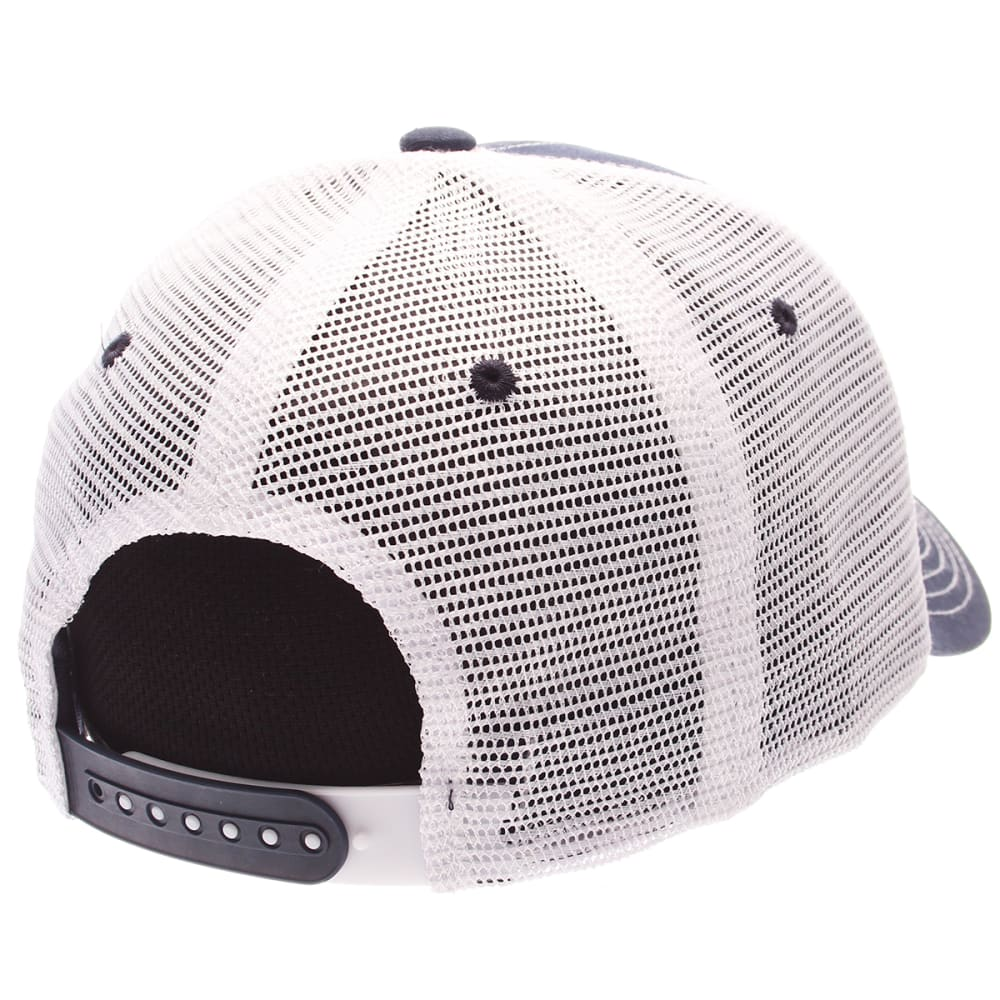 UCONN HUSKIES Men's Stamp Mesh Adjustable Hat - NAVY