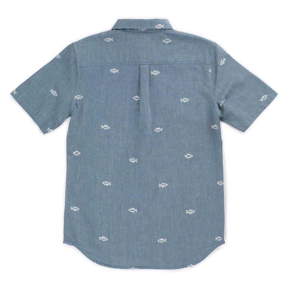 VANS Men's Houser SS Button Down Shirt - DRESS BLUE WASHUP