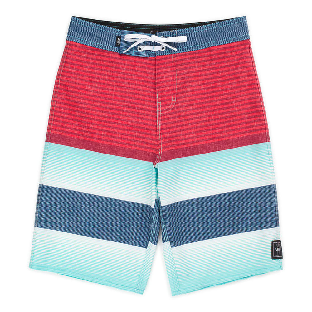 VANS Boys' Era Boardshorts - RACING RED VERTEX ST