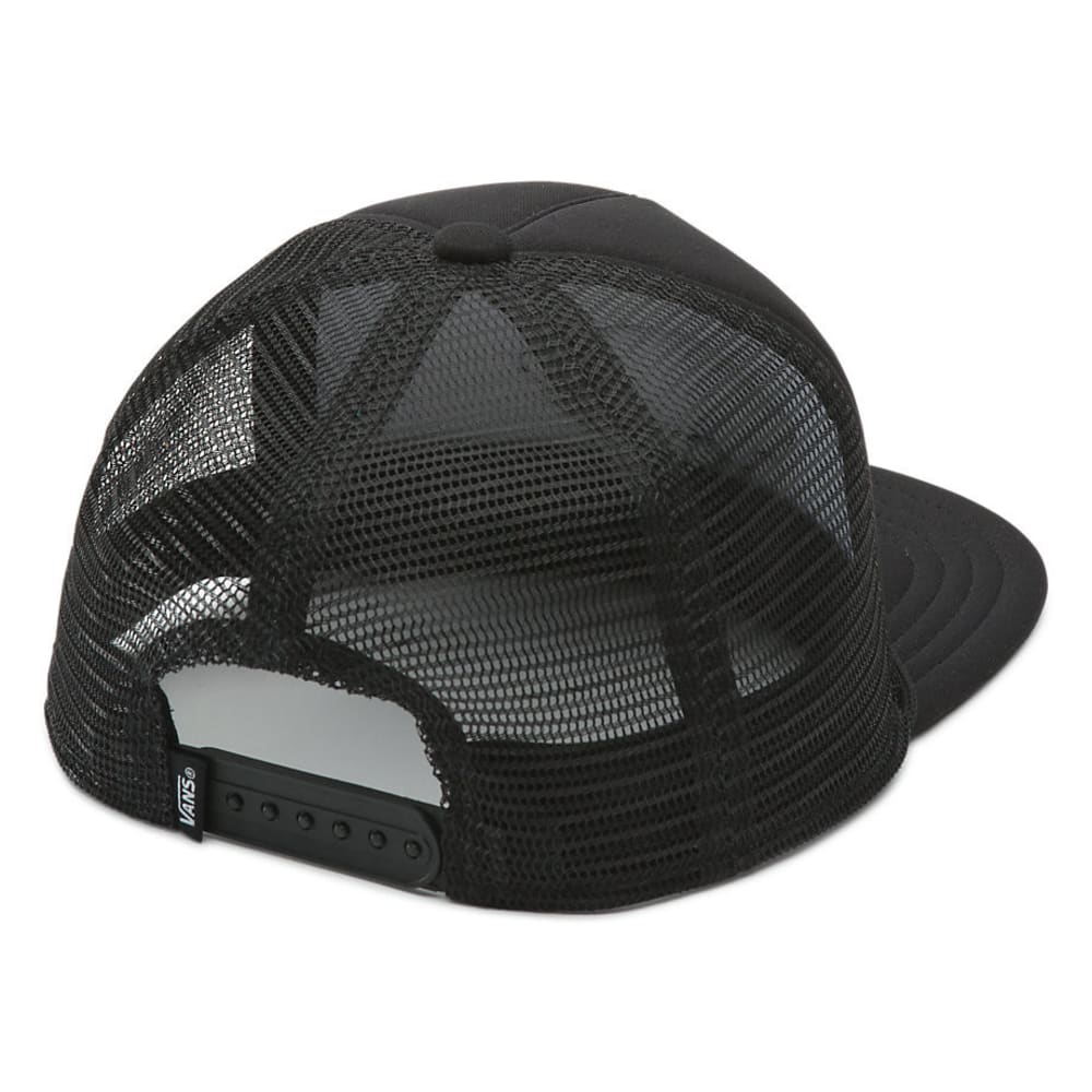 VANS Boy's Classic Patch Trucker Hat, Black - BLACK/BLACK