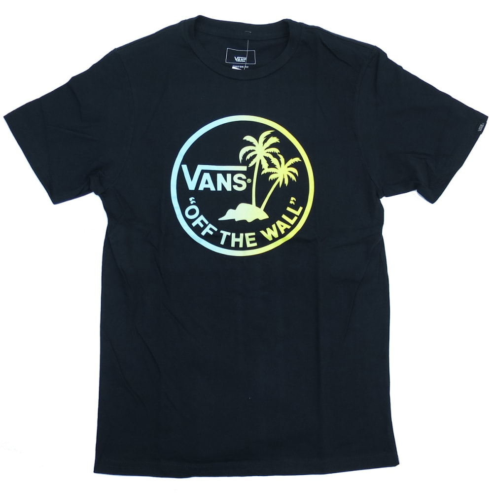 VANS Boys' Dual Palm Short Sleeve Tee - BLACK/GRADIANT