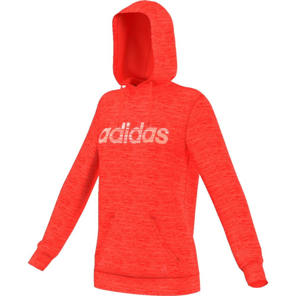 ADIDAS Women's Team Issue Logo Pullover Hoodie - SOLAR RED-AY7635