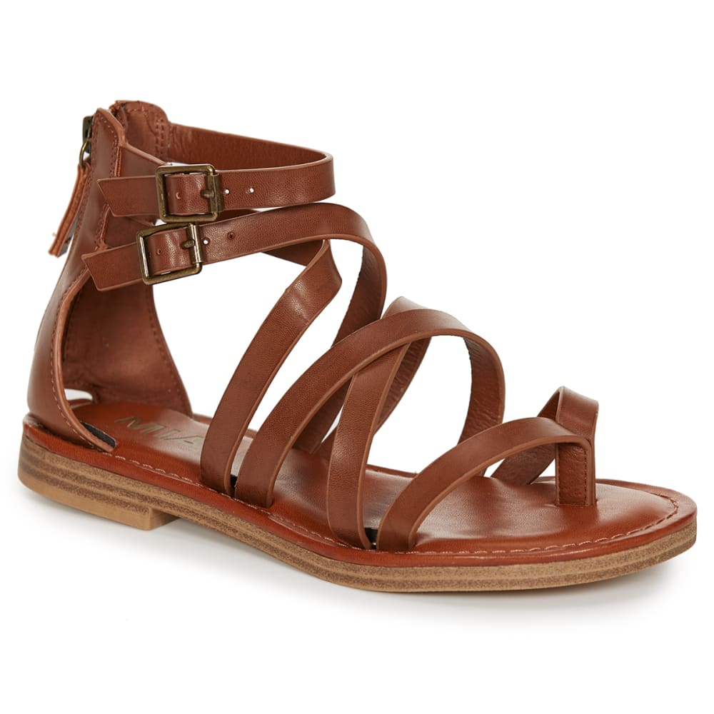 MIA Women's Denise Gladiator Sandals, Cognac - COGNAC