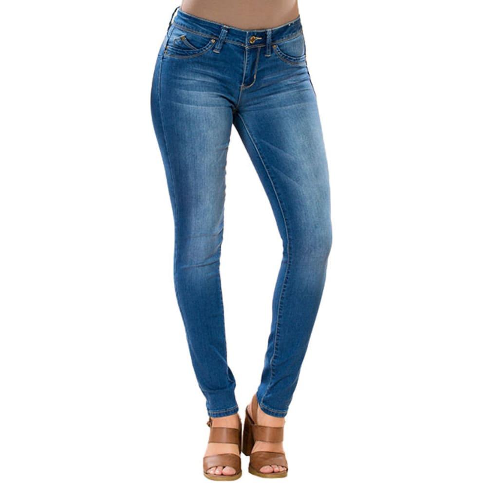 YMI Juniors' WannaBettaButt Super-Soft Midrise Skinny Jeans - M02-MED WASH