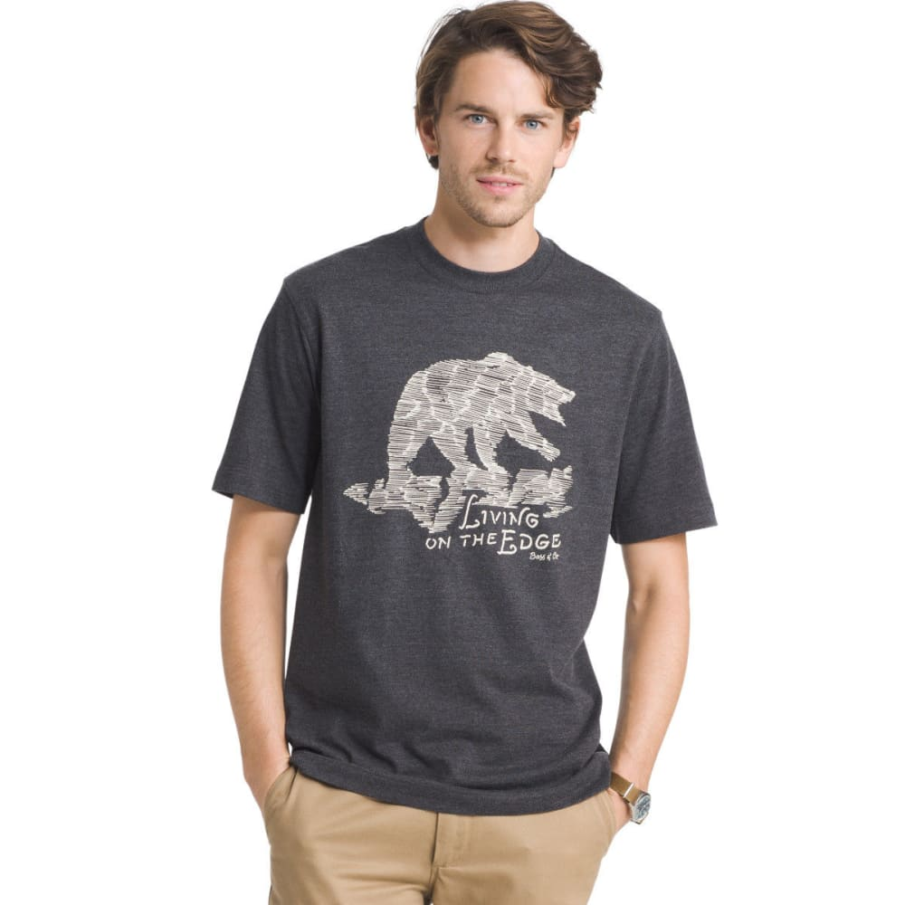 G.H. Bass & Co. Men's Living On The Edge Screen Tee - METEORITE - 008