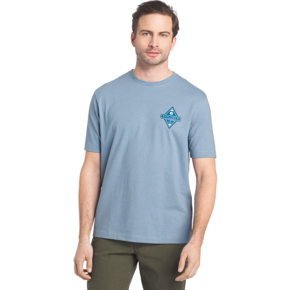 G.H. BASS & CO. Men's Explorer Screen Short-Sleeve Tee - FADED DENIM - 468