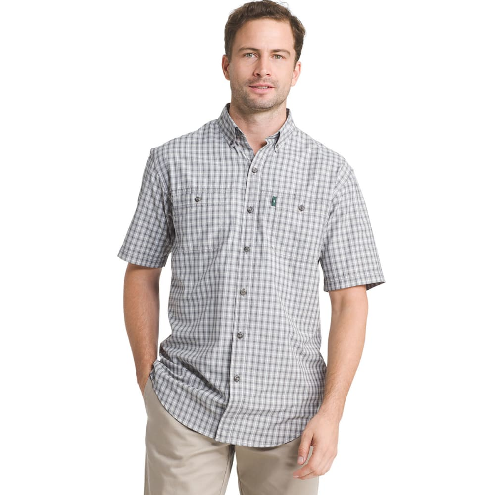 G.H. BASS & CO. Men's Plaid Explorer Sportsman Short-Sleeve Shirt - GRIFFIN - 030