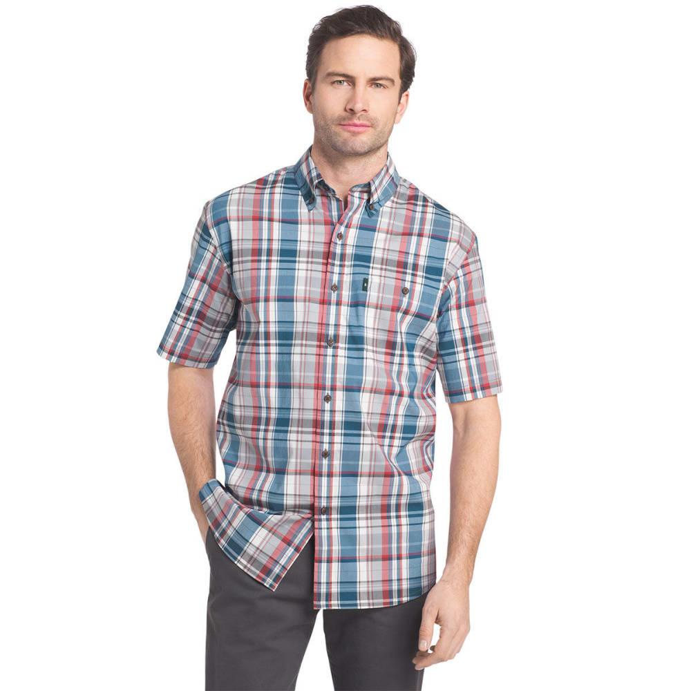 G.H. BASS & CO. Men's Desert Mountain Short-Sleeve Shirt - MOROCCAN BLUE - 422