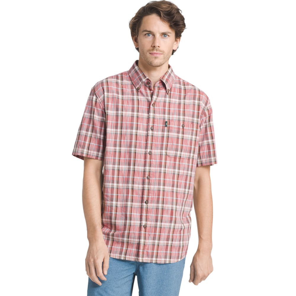G.H. BASS & CO. Men's Madawaska Short-Sleeve Trail Shirt - TANDORI SPICE - 640