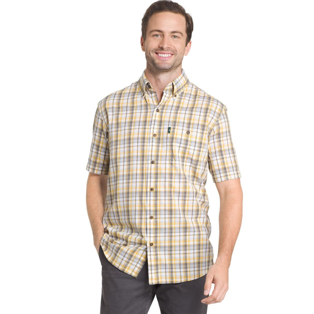 G.H. BASS & CO. Men's Madawaska Short-Sleeve Trail Shirt - YOLK YELLOW - 705