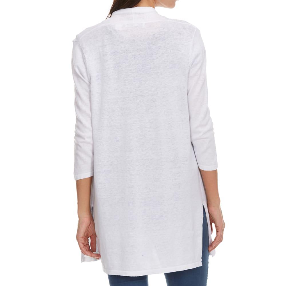 EIGHT EIGHT EIGHT Women's Open Cardigan - WHITE