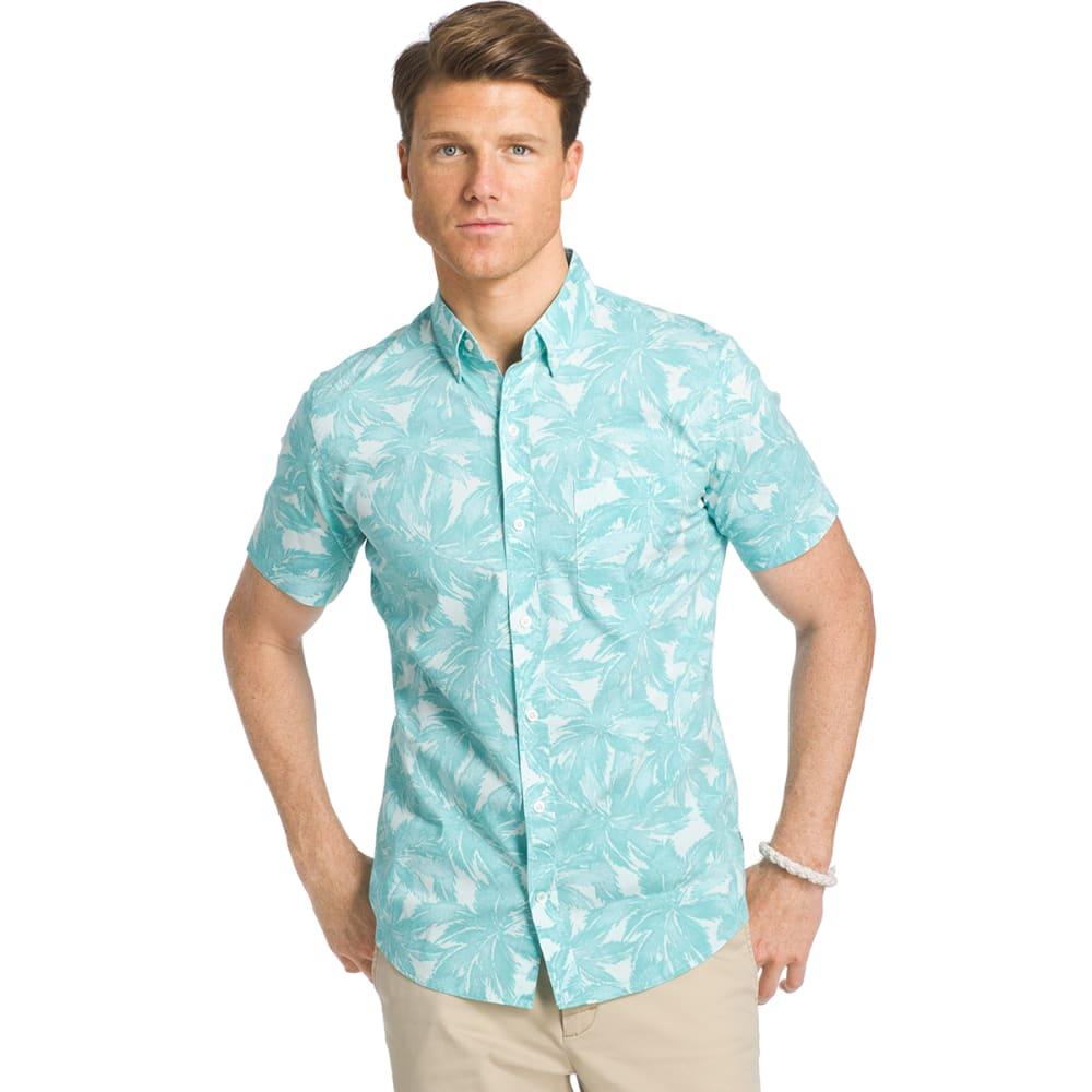 IZOD Men's Advantage Palm Stretch Short-Sleeve Shirt - CASCADE - 339