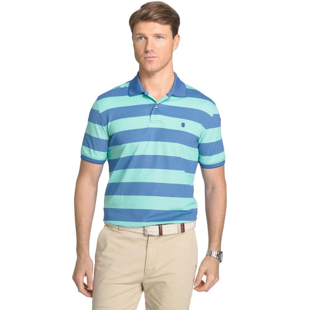 IZOD Men's Advantage Classic Rugby Stripe Polo Short-Sleeve Shirt M