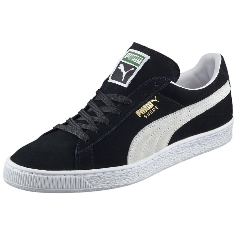 PUMA Men's Suede Classic+ Skate Shoes, Black/White - BLACK