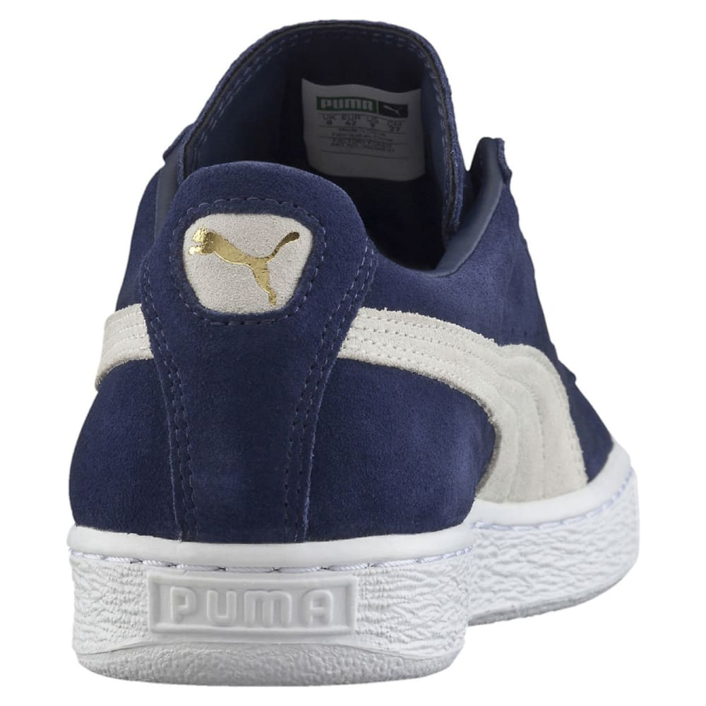 PUMA Men's Suede Classic+ Skate Shoes, Peacoat/White - NAVY