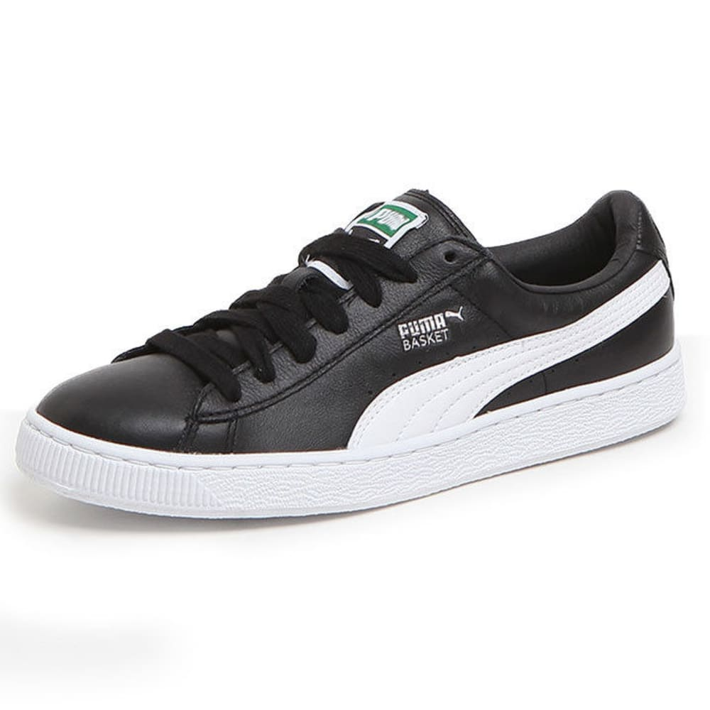 PUMA Men's Basket Classic LFS Skate Shoes, Black/White - BLACK