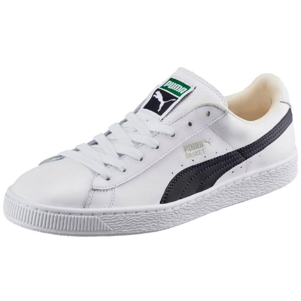 PUMA Men's Basket Classic LFS Skate Shoes, White/Black - WHITE