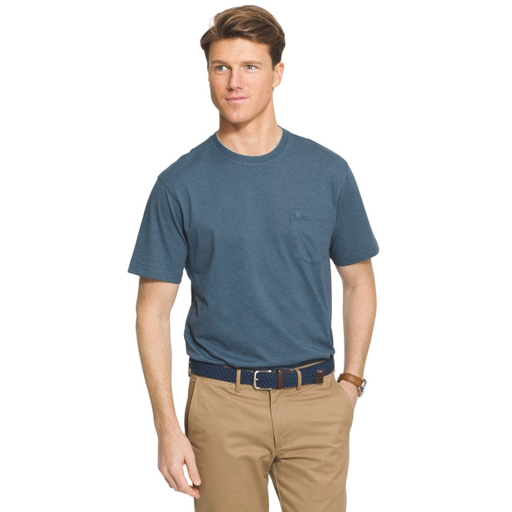 IZOD Men's Solid Chatham Point Short Sleeve Tee - ORION BLUE - 472