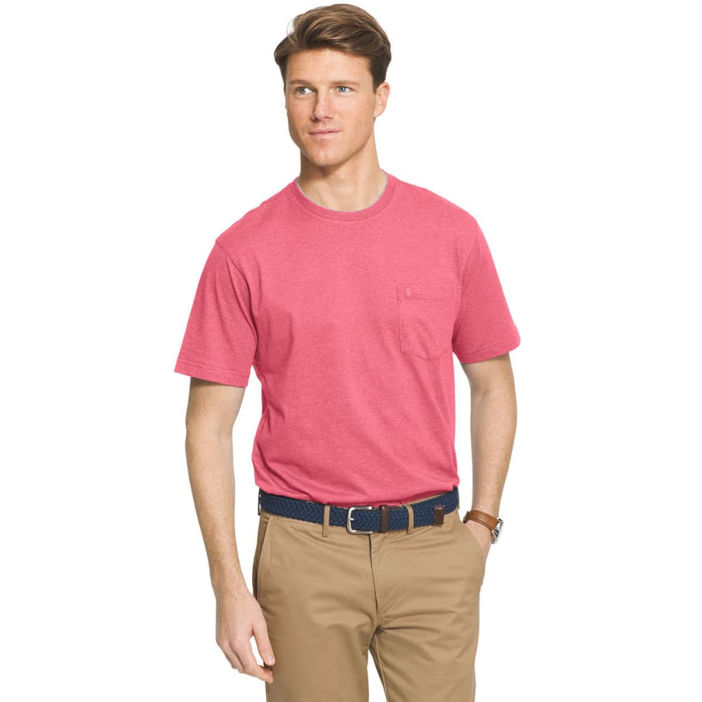 IZOD Men's Solid Chatham Point Short Sleeve Tee - RAPTURE ROSE - 697