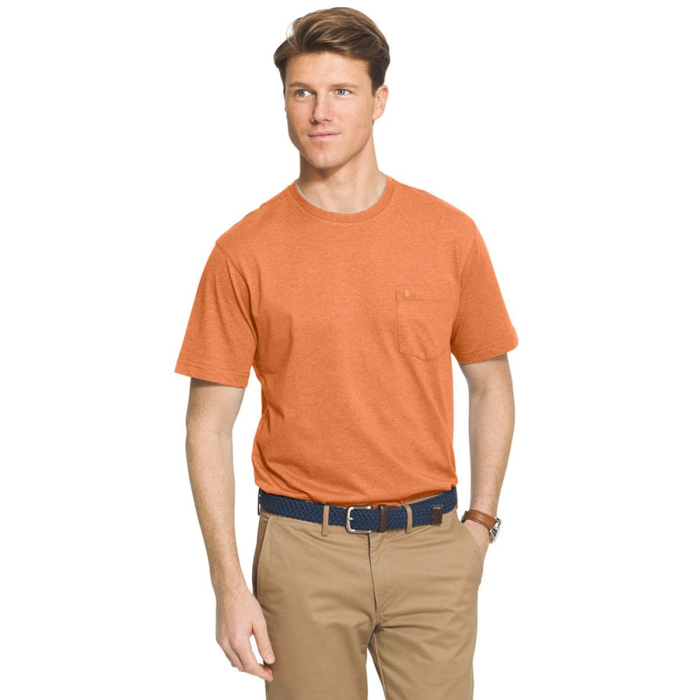 IZOD Men's Solid Chatham Point Short Sleeve Tee - DUSTY ORANGE - 824