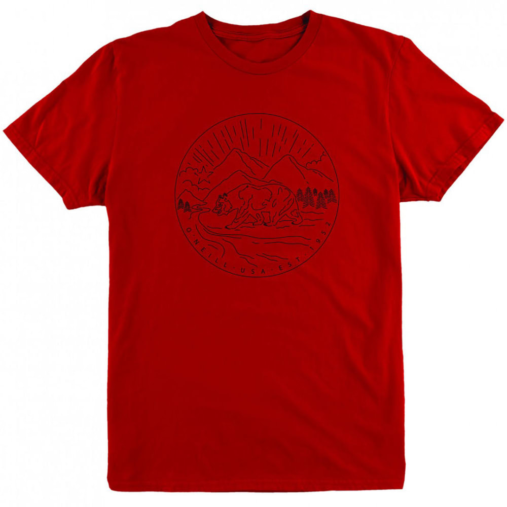 O'NEILL Men's Foothill Graphic Tee - RED-RED