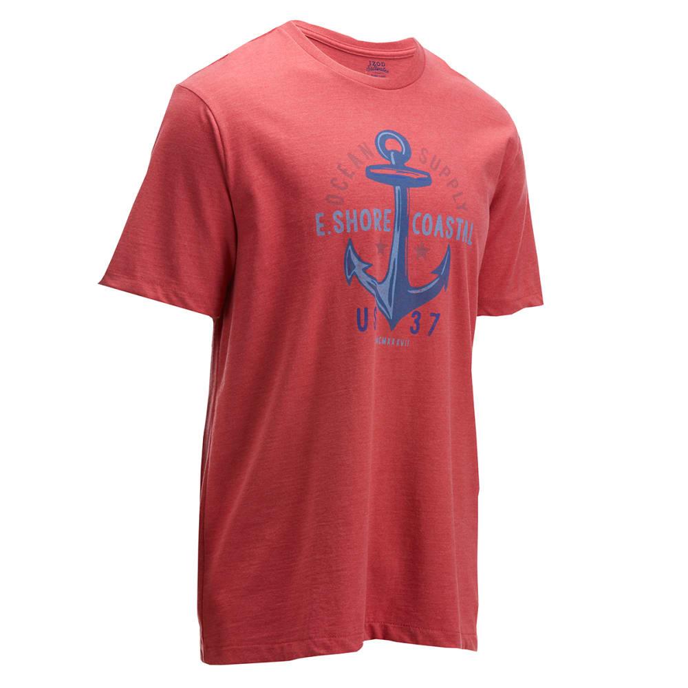 Izod Men's Short Sleeve Ocean Supply Tee - Red, M