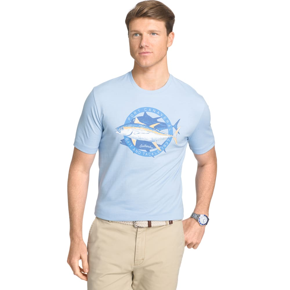 IZOD Men's Big Fin Short Sleeve Tee - POWDER BLUE - 454
