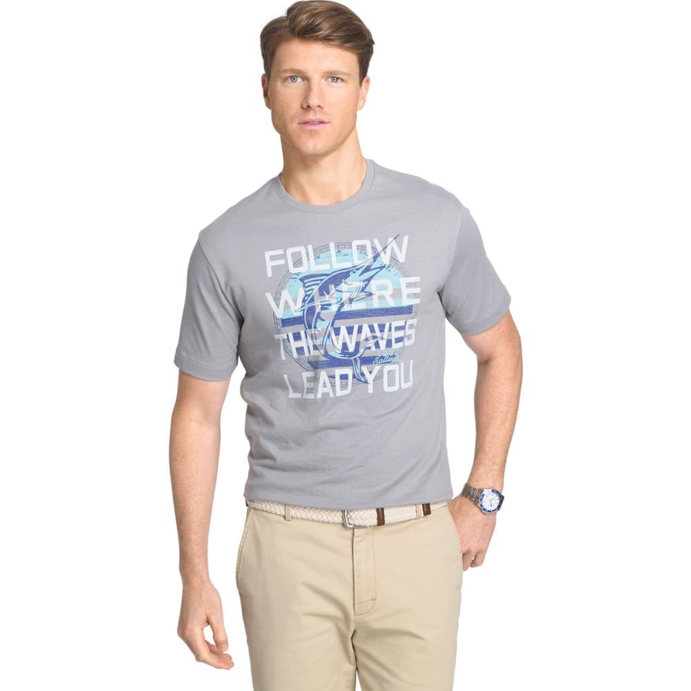 Izod Men's Marlin Short Sleeve Tee - Black, M