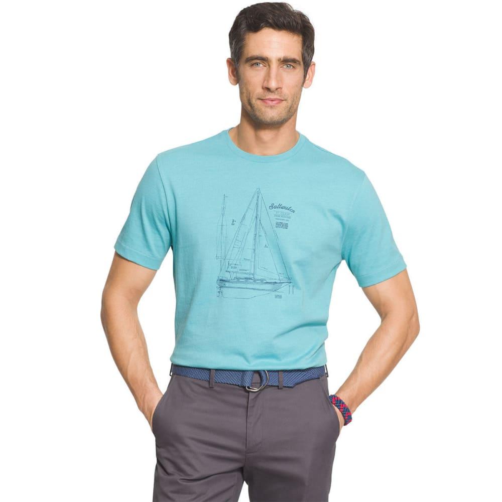 IZOD Men's Sun Island Short Sleeve Tee - PORCELAIN - 483