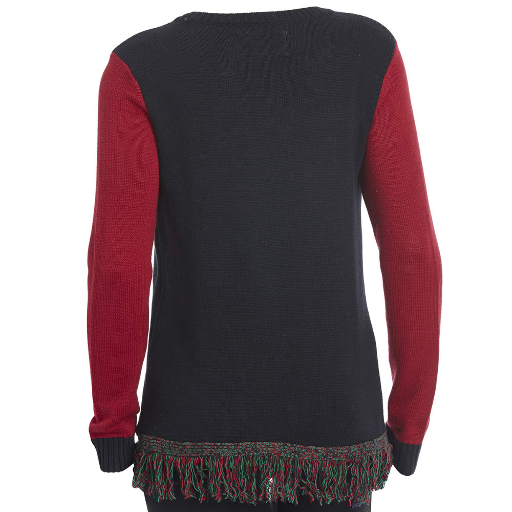 MICHAEL GERALD Women's Santa's Lil Helper Light Up Sweater - BLACK