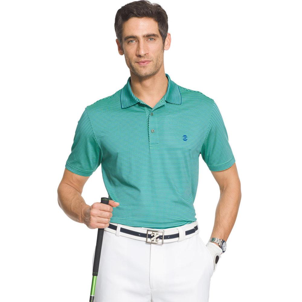 IZOD Men's Golf Performance Stretch Striped Polo Shirt - IRISH GREEN - 324