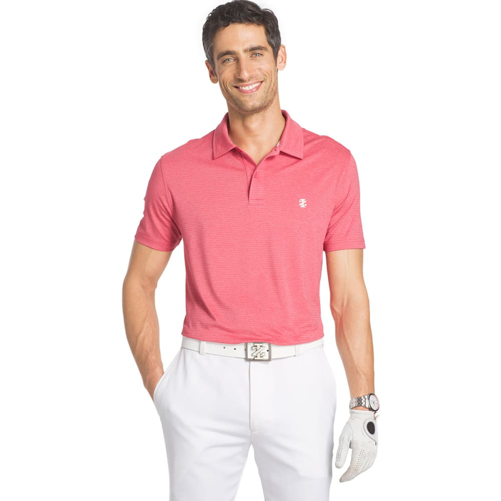 Izod Men's Cutline Stretch Polo Short-Sleeve Shirt - Red, M