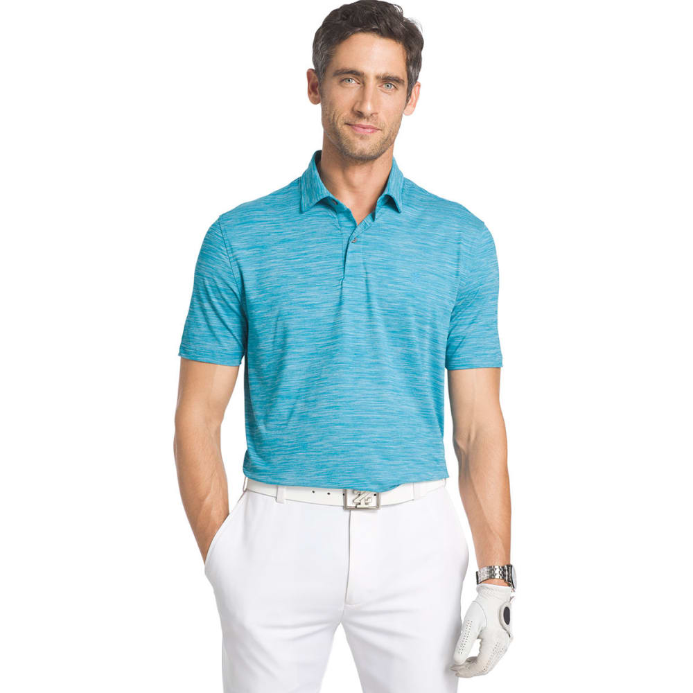 IZOD Men's Title Holder Space-Dye Polo Short-Sleeve Shirt - CANEEL BAY - 421
