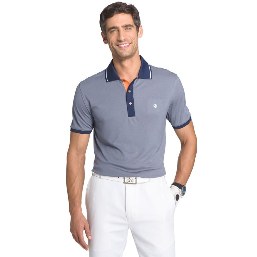 IZOD Men's Short Sleeve Golfers Oxford Polo - PEACOAT - 403