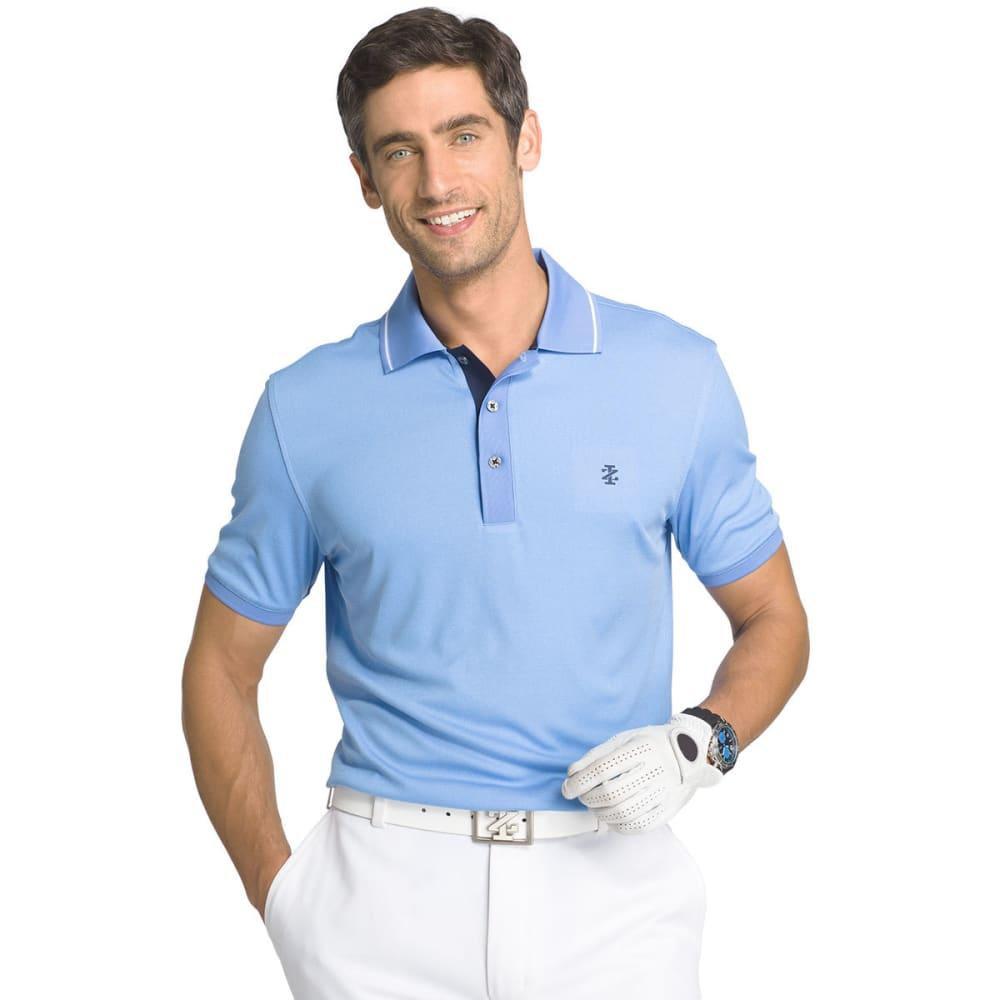 IZOD Men's Short Sleeve Golfers Oxford Polo - MARINA - 464