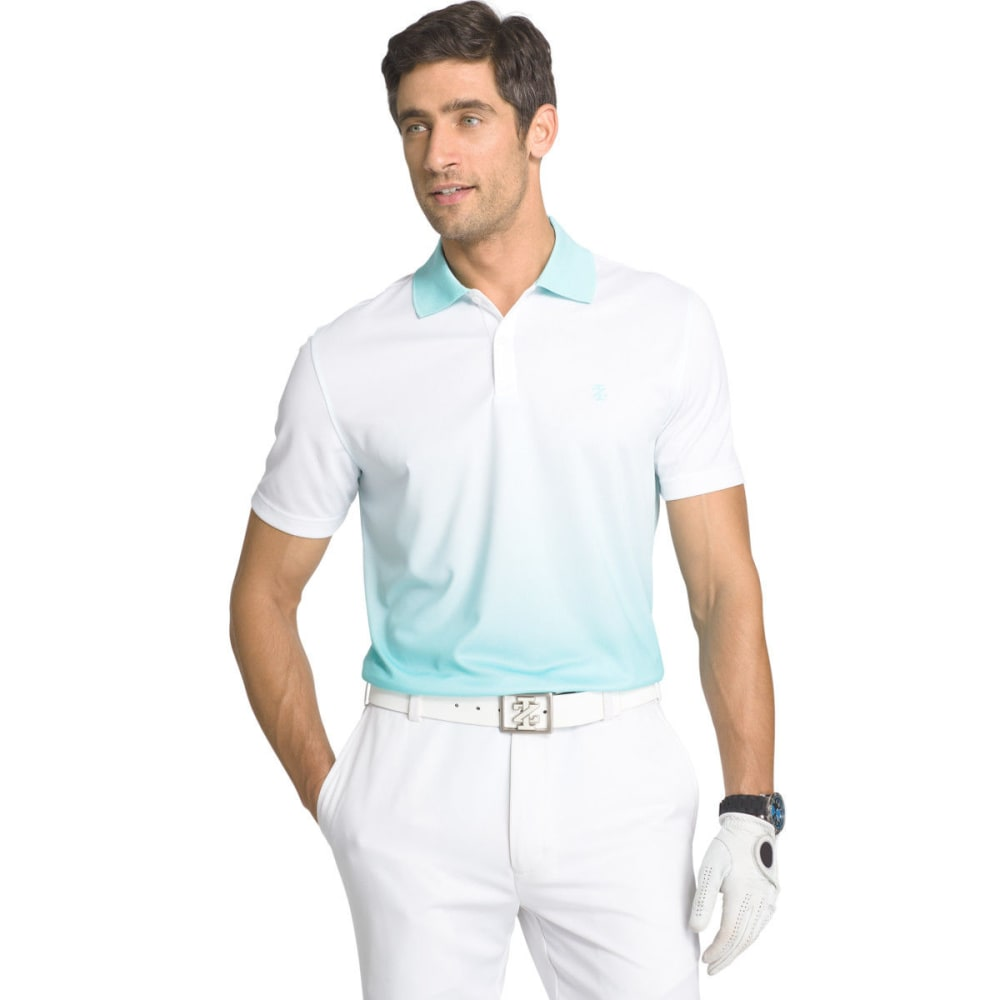 IZOD Men's Short Sleeve Dip Dye Golf Polo - AQUA SPLASH - 482