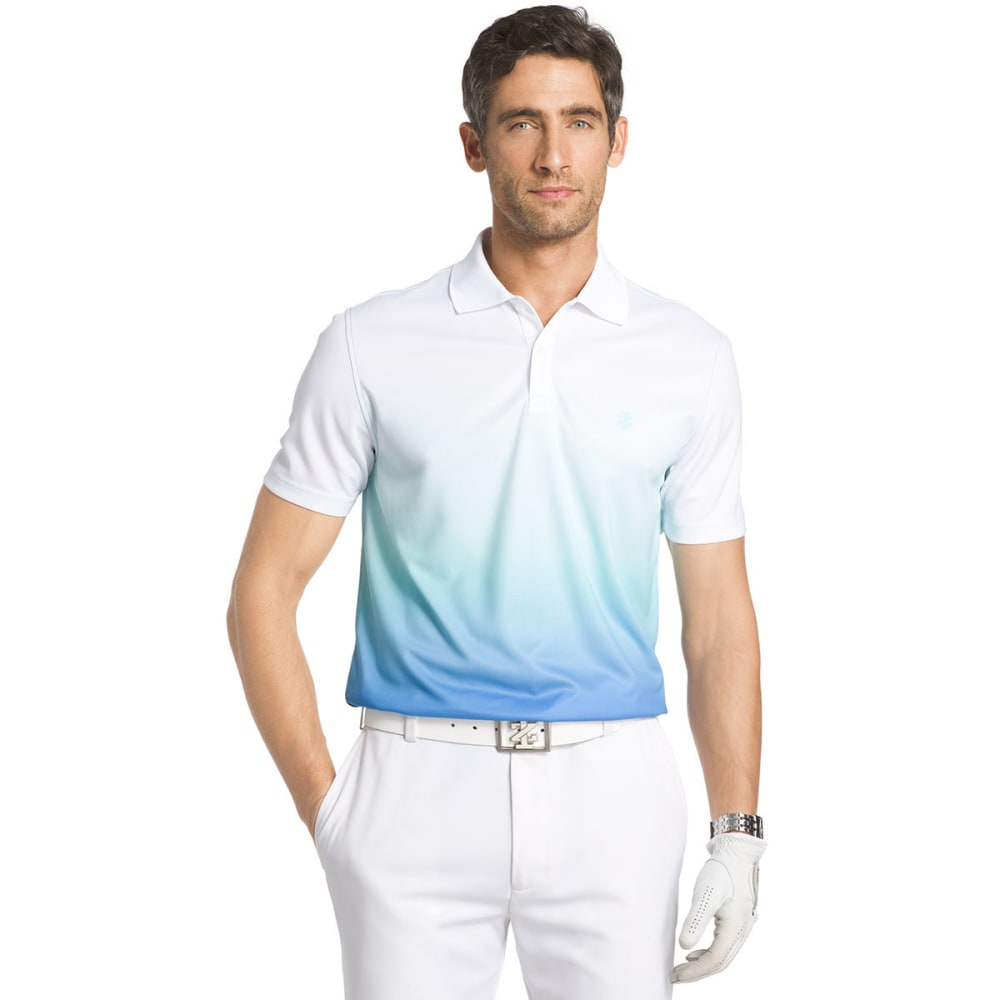 IZOD Men's Short Sleeve Dip Dye Polo - BRIGHT WHITE - 116