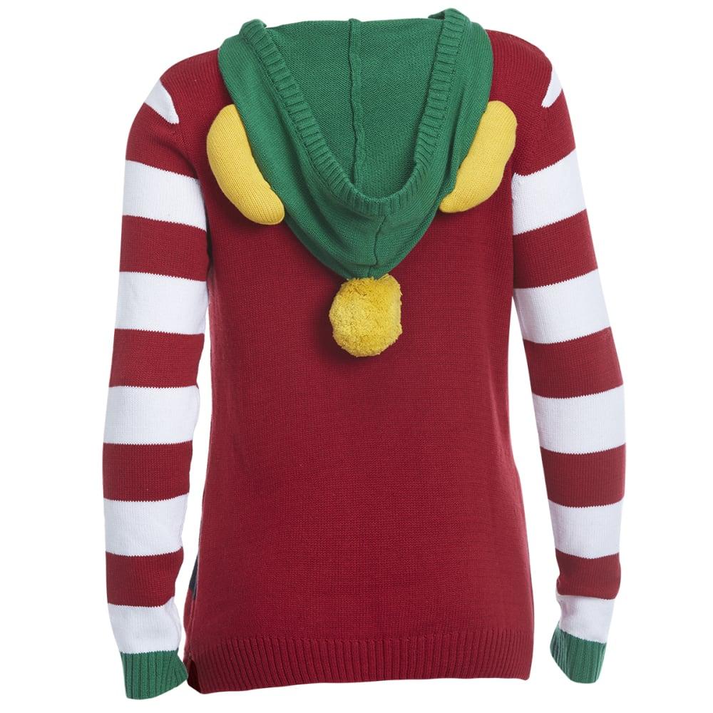 MICHAEL GERALD Women's Elf Costume Hooded Sweater - CAYENNE