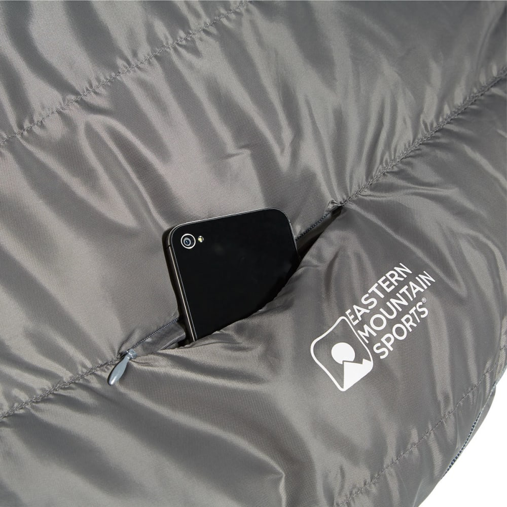 EMS Mountain Light 20 Sleeping Bag, Long - PEWTER/CHIVE