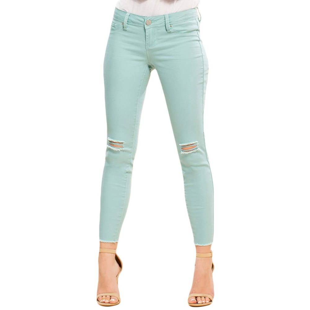 Y.M.I. Juniors' Super Soft Deconstructed Anklet Jeans - 152SE-SEA