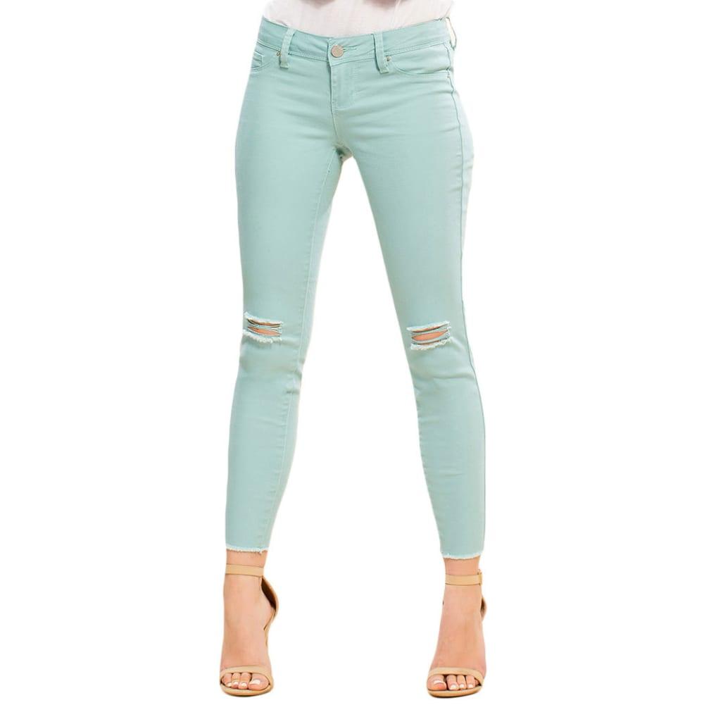 Y.M.I. Juniors' Super Soft Deconstructed Anklet Jeans - 152SE-SEA