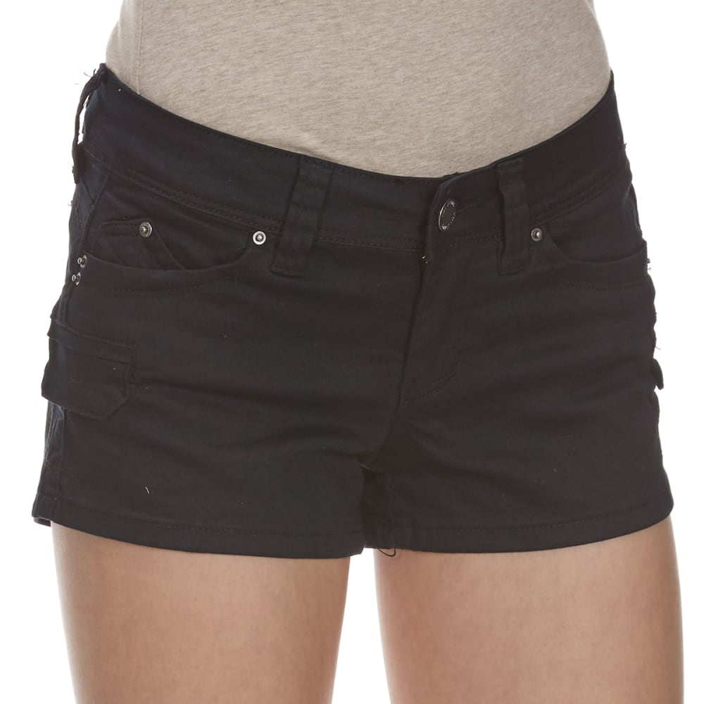 YMI Juniors' Wanna Betta Butt Cargo Shorts - BLACK