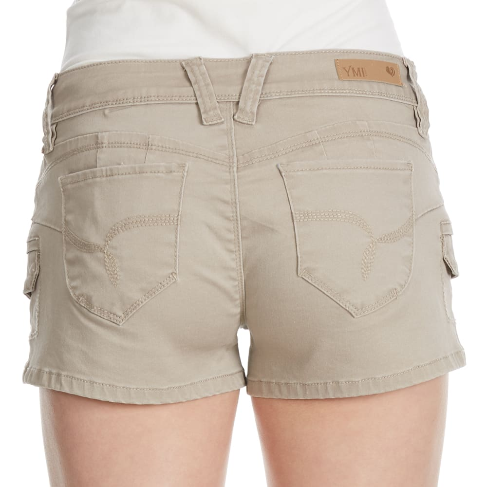 YMI Juniors' Wanna Betta Butt Cargo Shorts - SAND