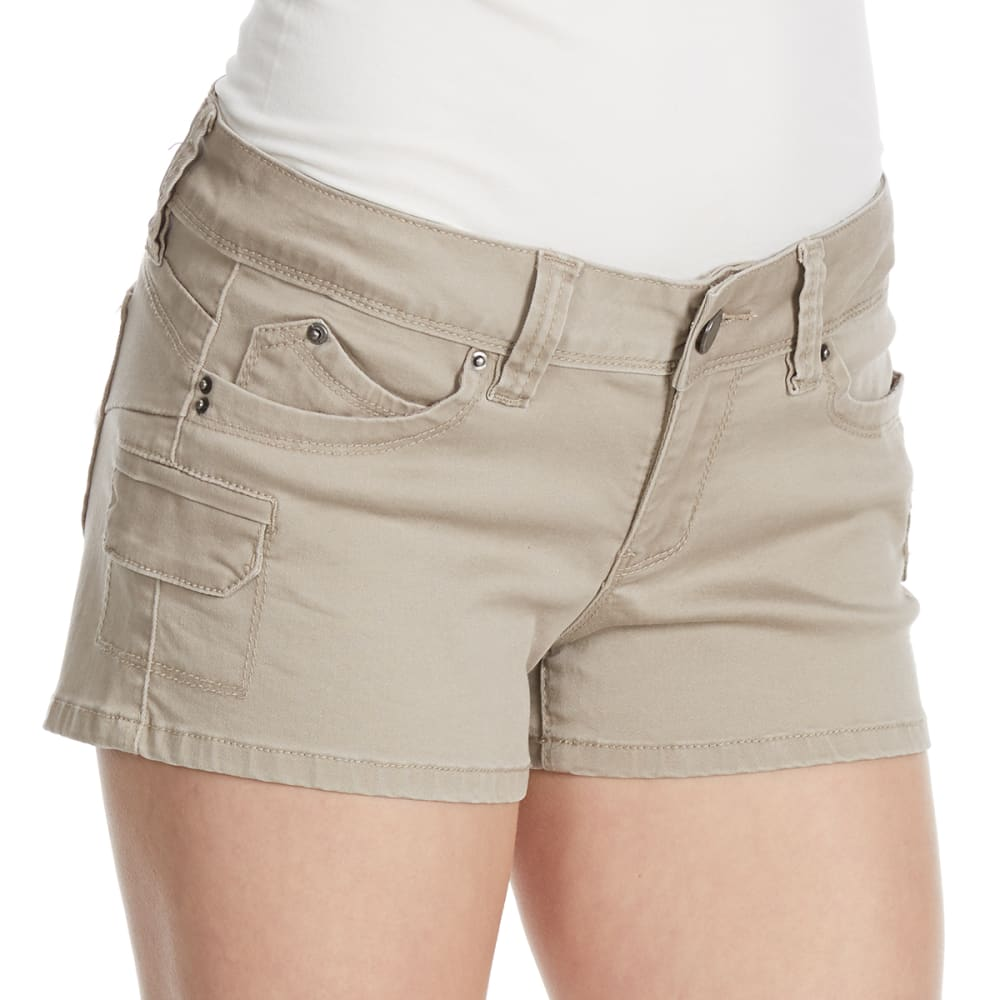 YMI Juniors' Wanna Betta Butt Cargo Shorts - SAND