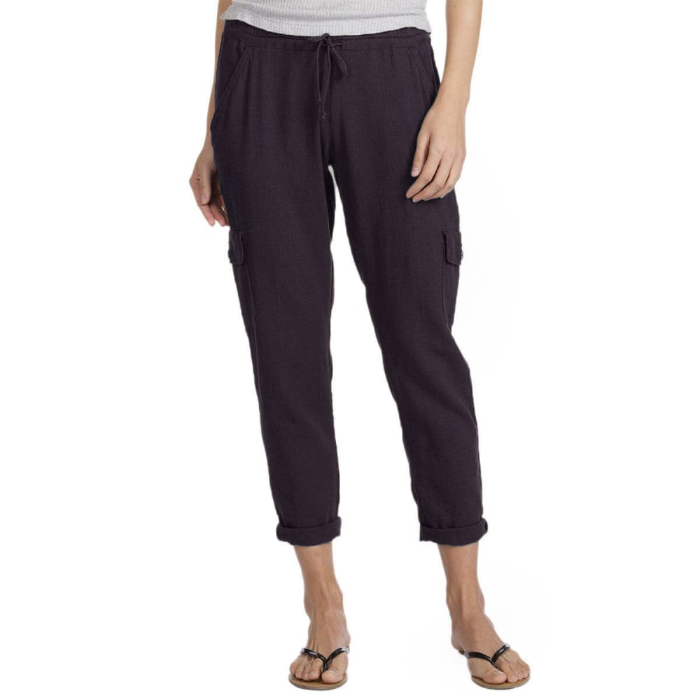 SUPPLIES BY UNIONBAY Women's Shelby Linen Pants - 069J-DRK GLAXY GREY