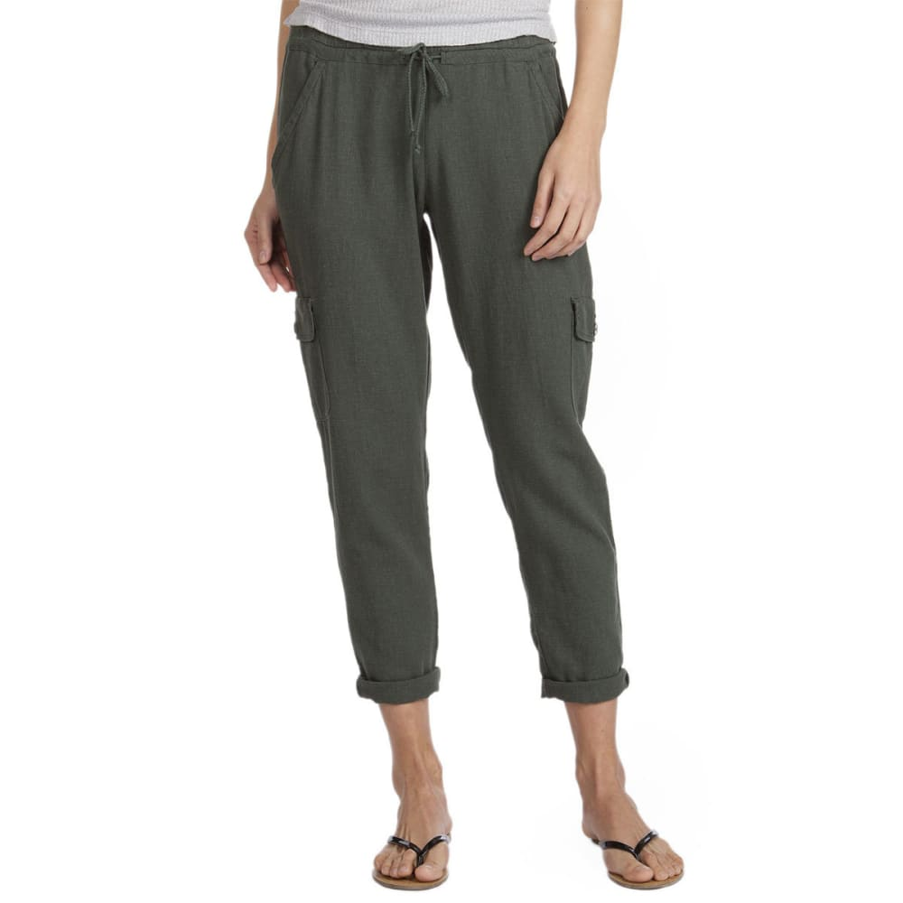 SUPPLIES BY UNIONBAY Women's Shelby Linen Pants - 339J-FATIGUE GREEN