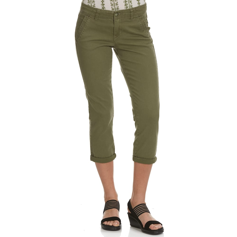 SUPPLIES BY UNIONBAY Women's Vera Cropped Twill Chino Pants - 766J-LANDSCAPE GREEN