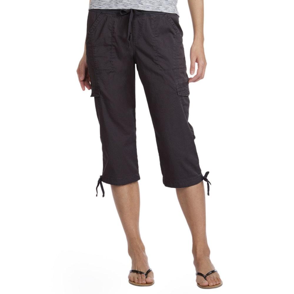 SUPPLIES BY UNIONBAY Women's Harriet Convertible Skimmer Crop Shorts - 069J-DRK GALAXY GREY